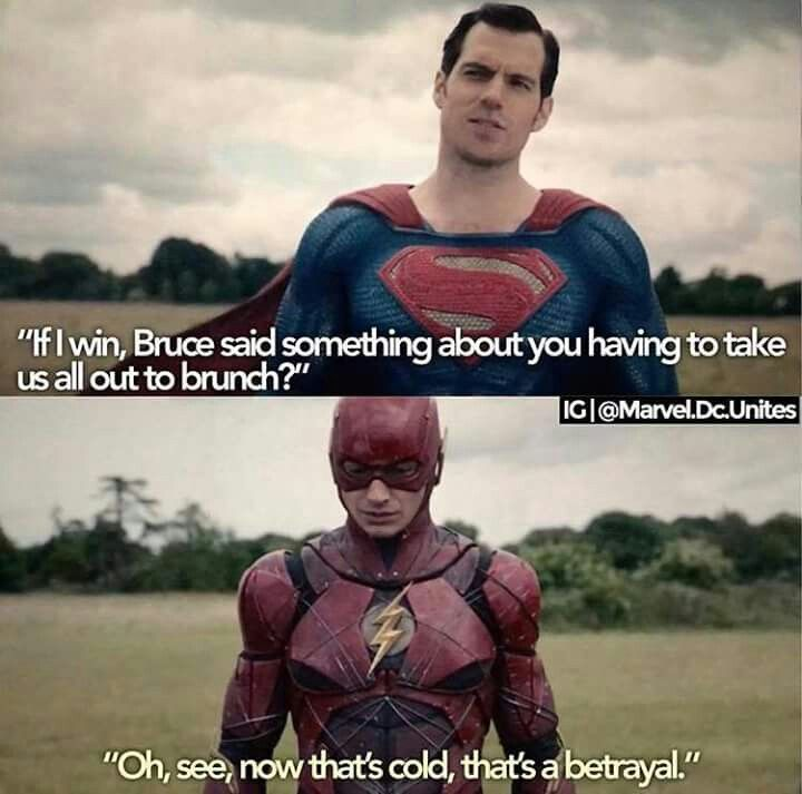 """(In case you don't know, in the movie, flash tells Bruce that he doesn't get the meaning of """"brunch"""")"""