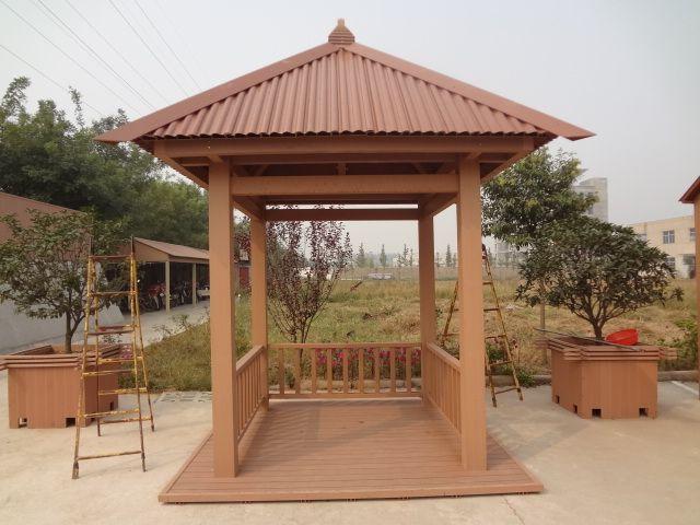 Outdoor Wood Plastic Composite Pavilion, Installation Is Simple WPC Pavilion