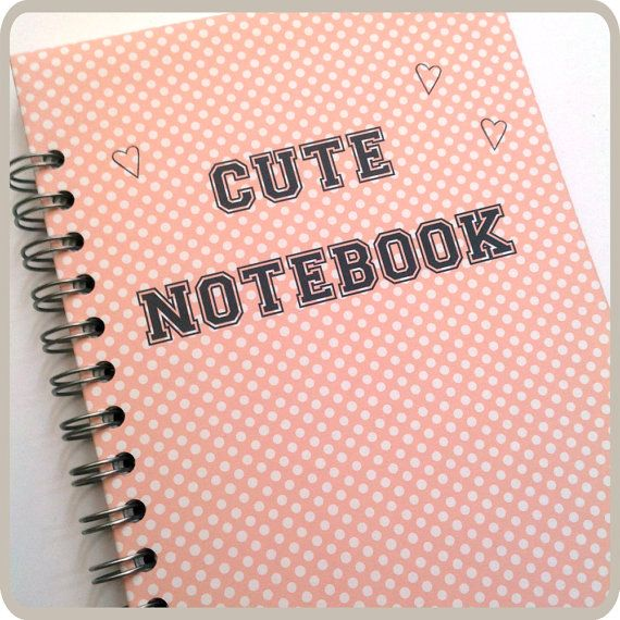 Cute Notebook  spiral notebook. by Fun2Art on Etsy