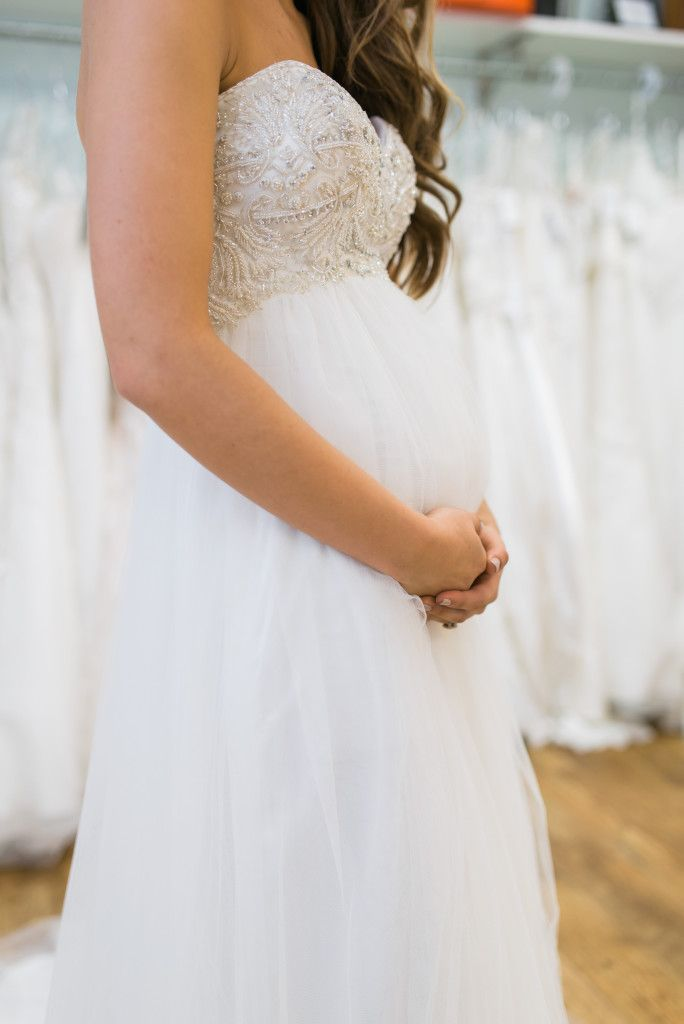 Prettiest maternity wedding dress