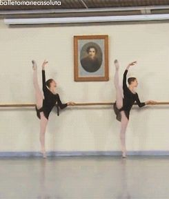 GIF: Ksenia Zhiganshina and Anastasia Lukina ♥ Wonderful! www.thewonderfulworldofdance.com #dance