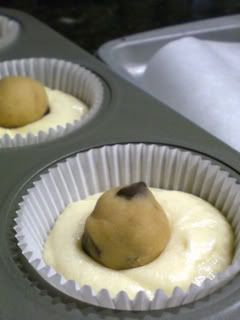 cookie dough baked right into a cupcake