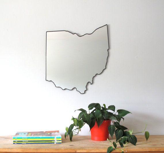 Ohio Mirror by fluxglass on Etsy, $135.00