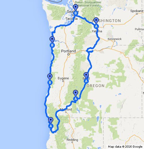Best Crater Lake Map Ideas On Pinterest Crater Lake Hikes - Oregon lakes map