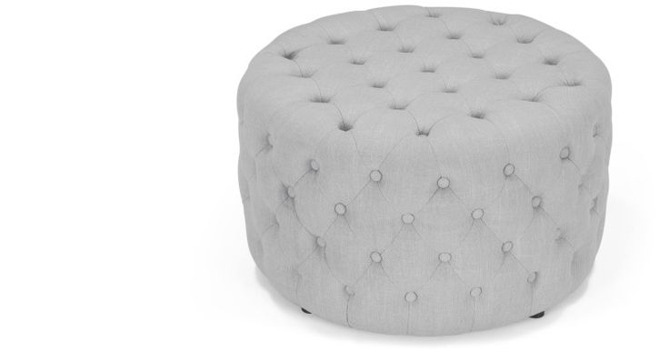Blakes Small Round Ottoman in persian grey   made.com
