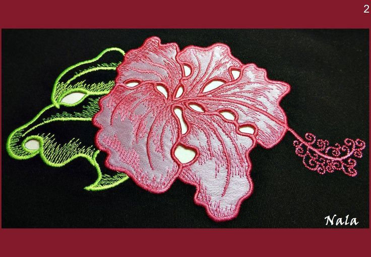 #hibiscus #flower #cutwork #embroidery #machine #design #Nalaembroidery #цветок #гибискус #ришелье #машинная #вышивка #дизайн