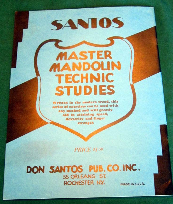 Santos Master Mandolin Technic Studies (from an ebay auction)