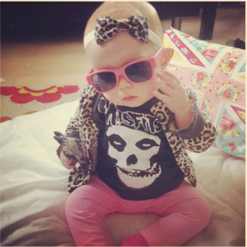 My kid will have awesome style like her.