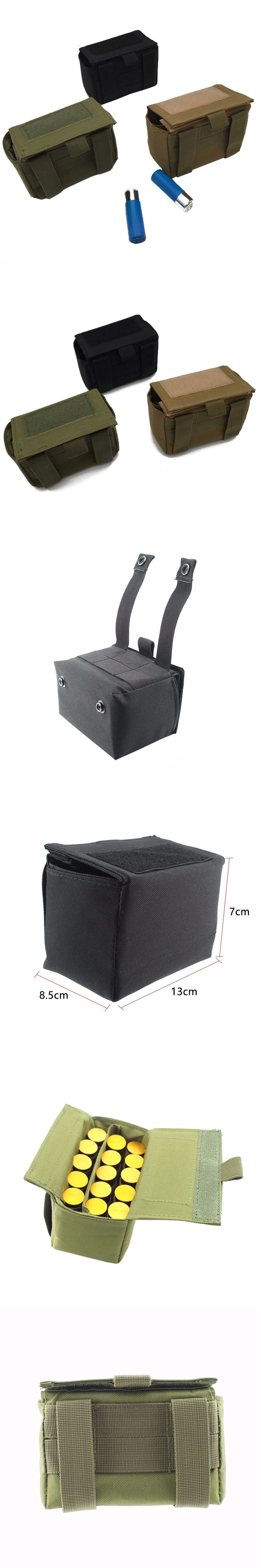 Balight Outdoor  Magazine Pouch Ammo Round Cartridge Holder Tactical 10 Round Shotshell Reload Holder Molle Pouch for 15 Gauge 5