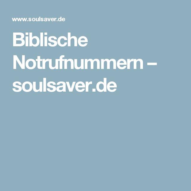 Biblische Notrufnummern – soulsaver.de