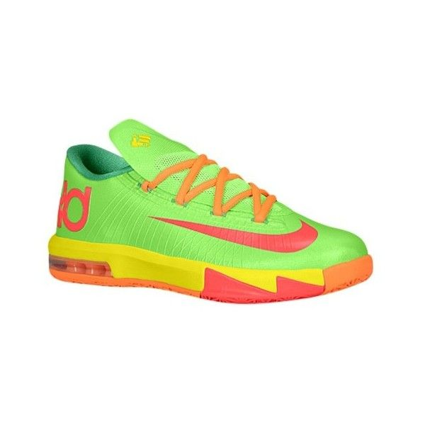 Nike KD VI Boys' Grade School ($100) ❤ liked on Polyvore featuring shoes, kd, nike, sneakers and jordans