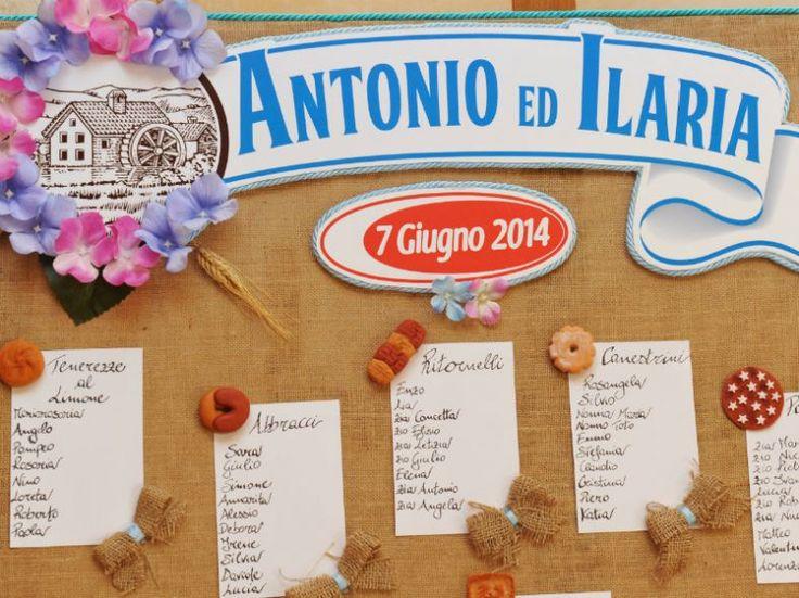 Fotografo matrimonio Roma. Tableau matrimonio tema biscotti Barilla