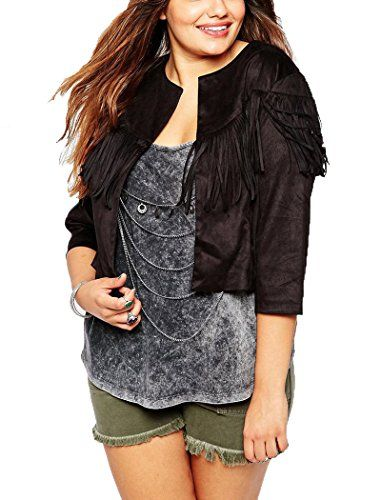 Oure Women's Suede Fringed Plus Size Jacket Fashion Formal Jacket Oversize Short Jacket black US14 Oure http://www.amazon.com/dp/B0171JBTJI/ref=cm_sw_r_pi_dp_830kwb1VFQHMG