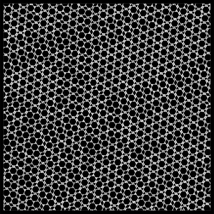 "'Signal & Noise 11-02-2017 #1 Black' © 2017 Titus Hora 150 x 150cm (54"" x 54"") digital print  #abstract #procedural #parametric #generative"