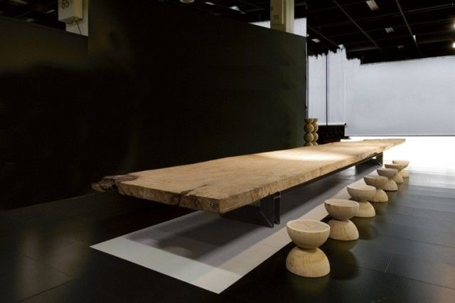 Dining room table.....WOOD DESIGN INSPIRATION || OVER 10FT DINING TABLES || Riva Table by Mattheo Thun