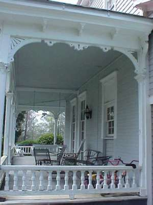 A beautiful Victorian Style porch  in Washington, Georgia.
