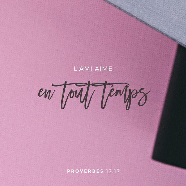 Proverbes 17: 17