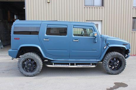 custom blue Hummer plasti dip