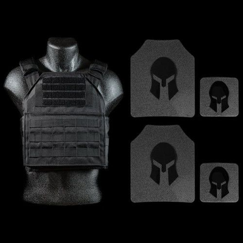 "Special Package Available While Supplies Last : Regular Price On This Package is $275 with free shipping! When purchasing this package you will receive: (1) ""Spartan"" Plate Carrier (Black) (2) AR500 1"