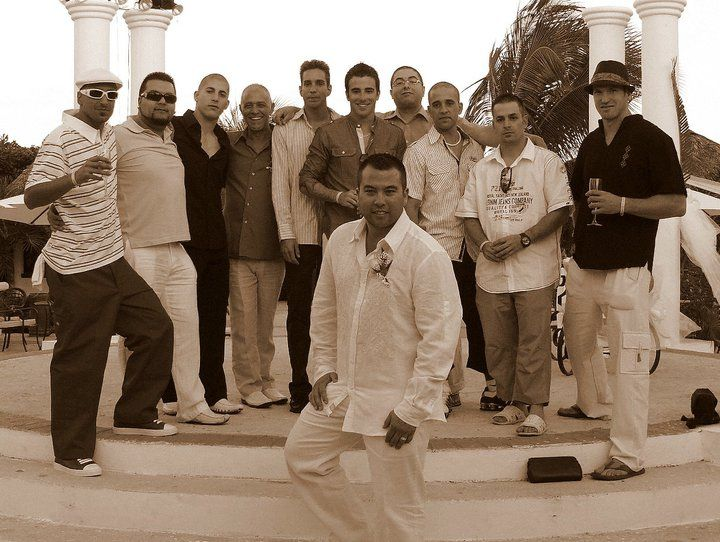 The men of the party, we were a total of 65 guests