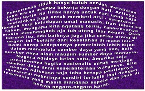 Indonesia adalah negara yang makmur karena kaya dengan sumber daya alam yang melimpah ruah. Tanah, air dan udara diatasnya menghasilkan kekayaan yang tidak dapat dinilai dengan uang sebab pemanfaat…