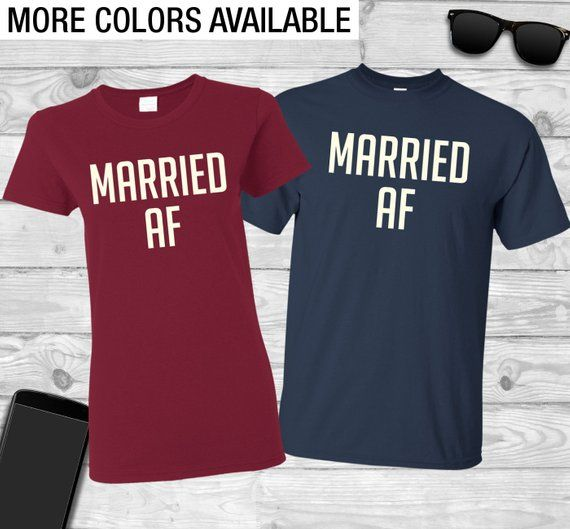 8c10cbc5631c Married AF Couples shirt Honeymoon shirts