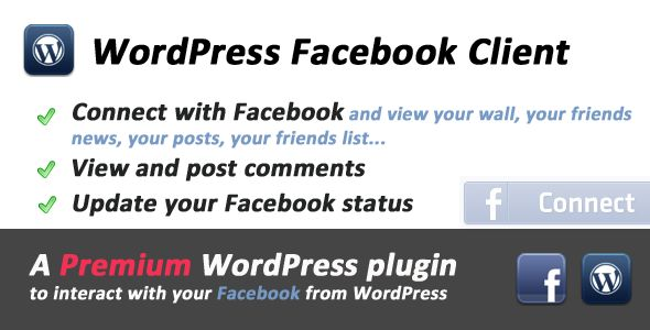 Facebook Client for WordPress  #codecanyon