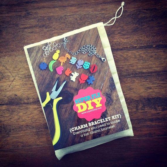 Super Fly DIY Charm Bracelet Kit by morganandjane on Etsy https://www.etsy.com/au/listing/217724382/super-fly-diy-charm-bracelet-kit?ref=shop_home_active_1  #lasercut  #DIYkits  #partyidea