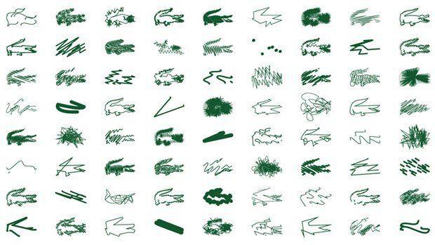 Питер Сэвилл разработал 72 альтернативных лого Lacoste. Изображение №1.