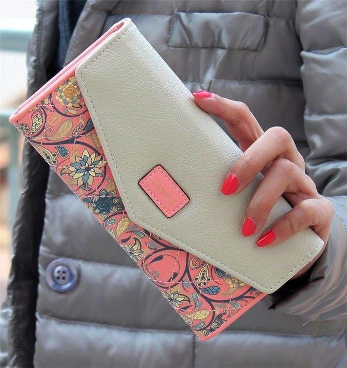 Nuevas MUJERES De Cuero Cartera Sobre De Monedero titular de tarjeta móvil larga bolsa de cremallera bolso