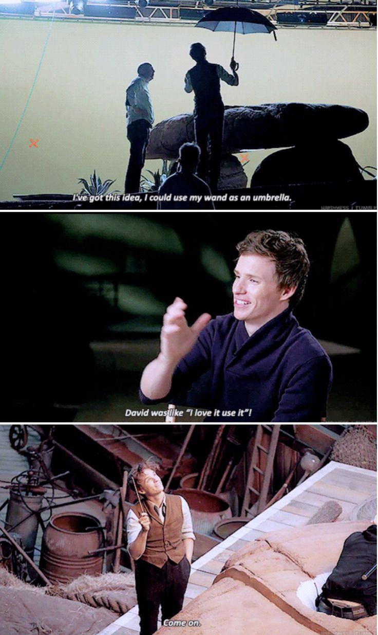 Eddie Redmayne - Fantastic Beasts - Eddie Redmayne about using Newt's wand as an umbrella