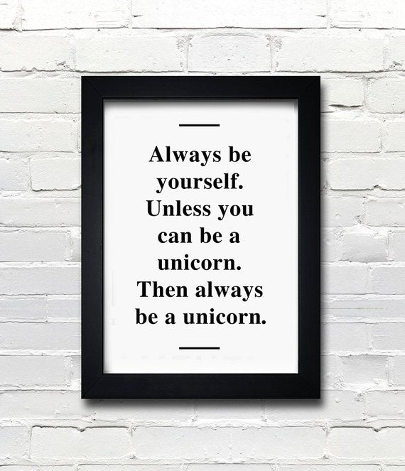 A3 Unicorn poster quote print apartment decor  by blackandtypeshop, $24.00