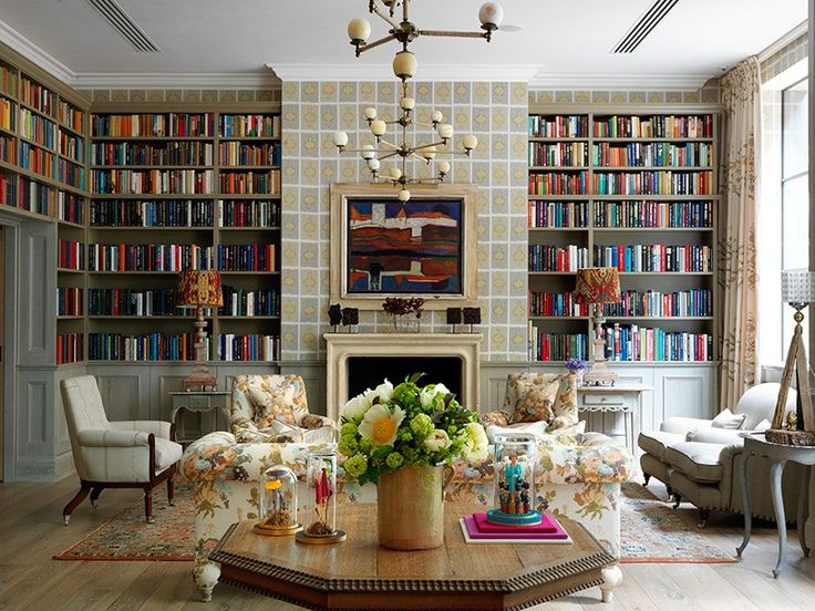 The library at Firmdale Hotels' latest London property, Ham Yard Hotel, which opened in early JuneLibraries, London, Interiors, Yards Hotels, Living Room, Hams Yards, Kits Kemp, Firmdale Hotels, House