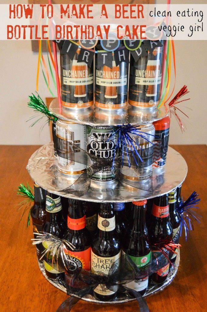 How to Make a Beer Bottle Birthday Cake| cleaneatingveggiegirl.com