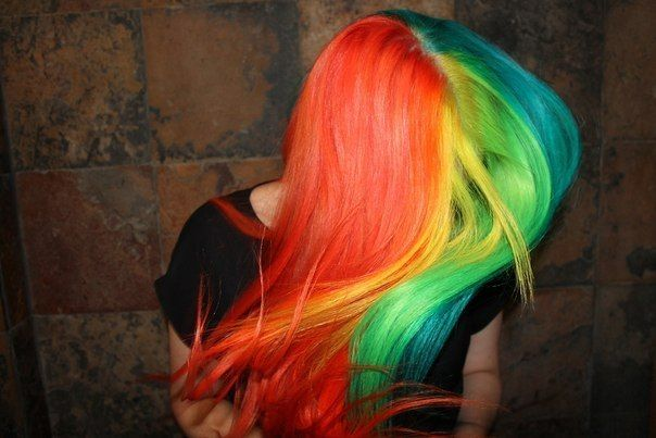 Цветные краски для волос Holy Dyes.
