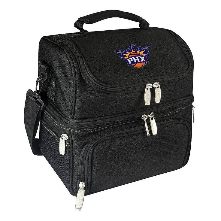 Picnic Time Phoenix Suns Pranzo 7-Piece Insulated Cooler Lunch Tote Set, Black