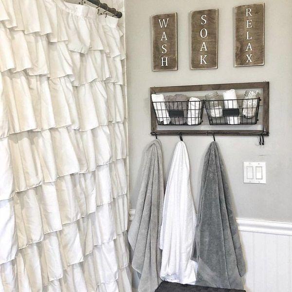 100 Cozy Farmhouse Bathroom Decor Ideas You Can Easily Copy – Bathroom