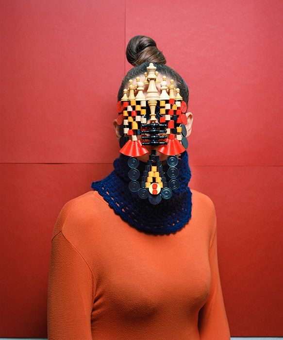 'Masques' from everyday objects, by photographer Marie Rime.