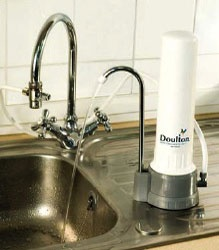 Doulton Countertop Water Filter -- eliminates chlorine and flouride