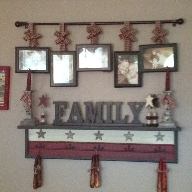 homemade picture frame country