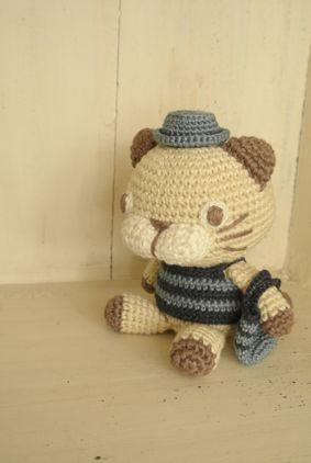 LINNET/Knitting Pattarn リネン糸 編み図 編図 セット詳細 編みぐるみねこ お洋服編み図2 ボーダー