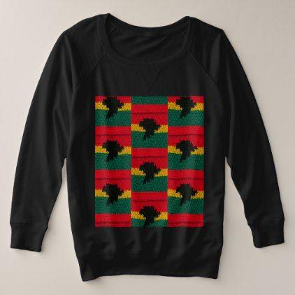 Africa Map African Colors of Ghana Crochet Print Plus Size Sweatshirt - gold gifts golden customize diy