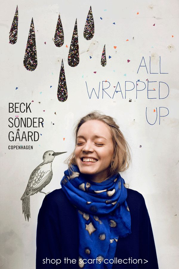 All Wrapped up. We're in love with the Beck Sondergaard range this season. Lovely scarfs with playful colours and prints. http://shop.roosbeach.co.uk/collections/becks-ndergaard