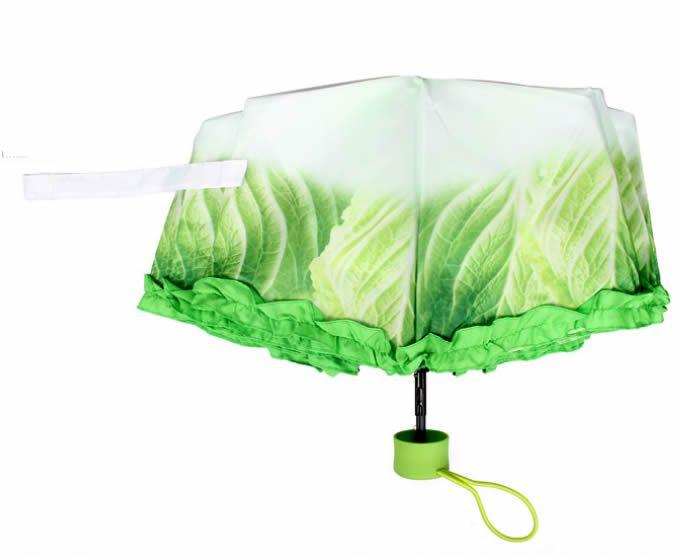 Vegetable Folding Umbrella Sun UV Protection Travel Creative