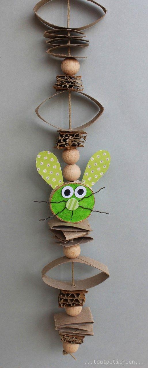 Nous recyclons nos déchets de carton #bricolage #enfants #paques www.toutpetitrien.ch et www.pinterest.com/fleurysylvie