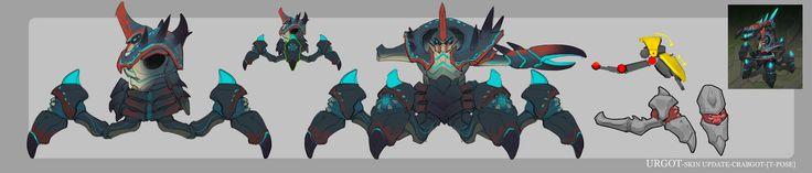 ArtStation - LOL-URGOT- skin rework-Crabgot, Xuexiang Zhang