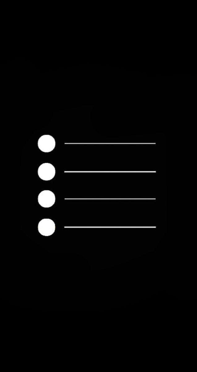 Reminders Black And White Icon Black App Iphone Icon App Icon