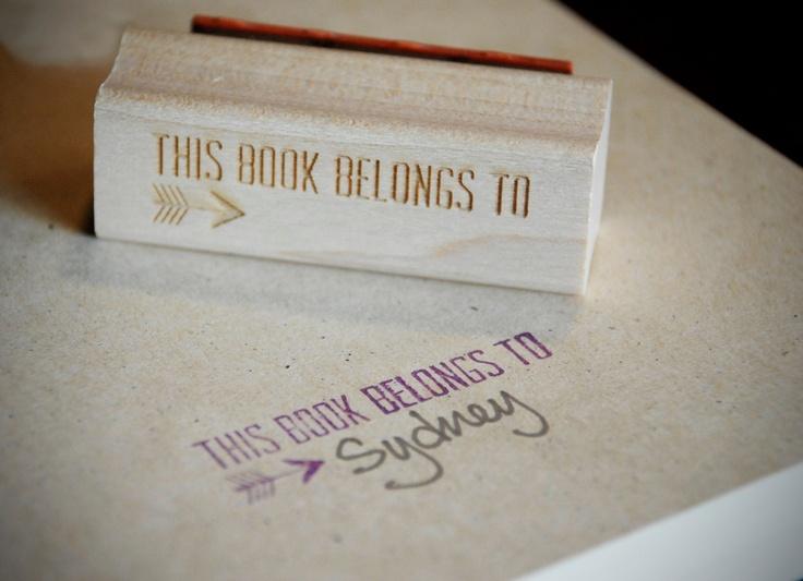 Blank Arrow Bookplate Stamp. $11.00, via Etsy.