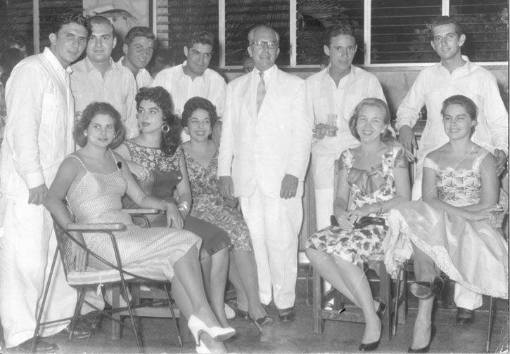 Fiesta guajira 1951. Country folk themed party Miramar Cuba Yacht Club