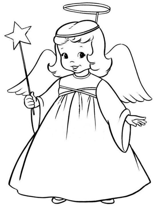ausmalbilder weihnachten engel für kinder angel